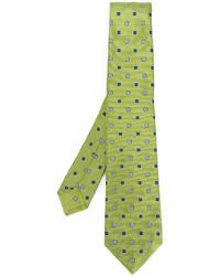 Cravate en soie chartreuse Kiton