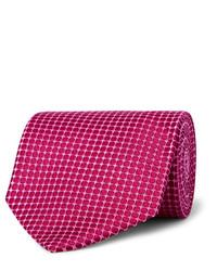 Cravate en soie fuchsia Charvet