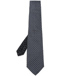 Cravate en soie géométrique noire Etro