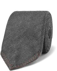 Cravate en soie gris foncé Canali