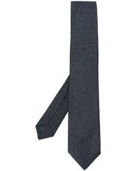 Cravate en soie gris foncé Kiton