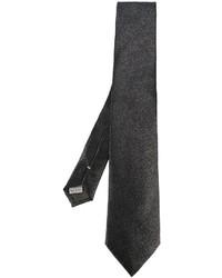 Cravate en soie grise foncée Canali