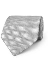 Cravate en soie grise Ermenegildo Zegna