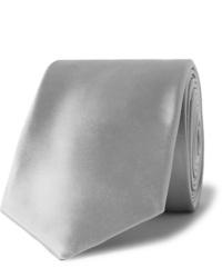 Cravate en soie grise Giorgio Armani