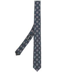 Cravate en soie imprimée bleu canard Dolce & Gabbana