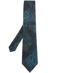 Cravate en soie imprimée bleu canard Etro
