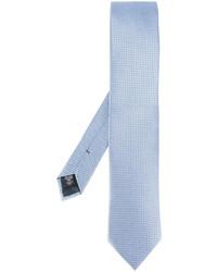 Cravate en soie imprimée bleu clair Ermenegildo Zegna