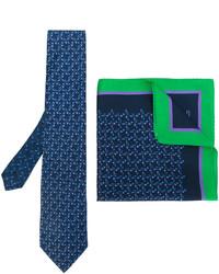 Cravate en soie imprimée bleu marine Etro