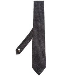 Cravate en soie imprimée bleu marine Lardini