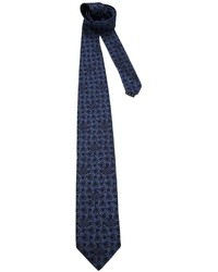 Cravate en soie imprimée bleu marine Versace