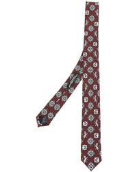 Cravate en soie imprimée bordeaux Dolce & Gabbana