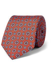 Cravate en soie imprimée tabac Dunhill
