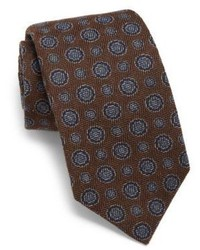 Cravate en soie marron foncé