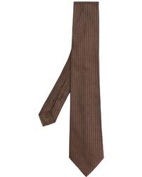 Cravate en soie marron Church's