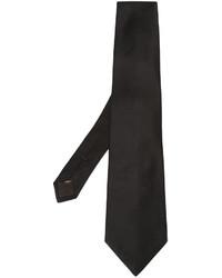 Cravate en soie noire Canali