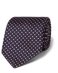 Cravate en soie noire Hugo Boss