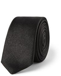 Cravate en soie noire Lanvin