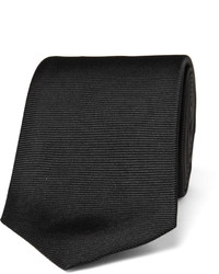Cravate en soie noire Turnbull & Asser