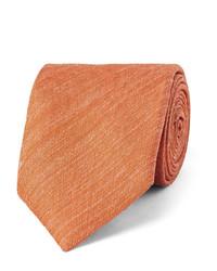 Cravate en soie orange Charvet
