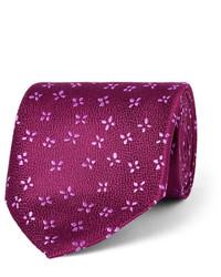 Cravate en soie pourpre foncé Charvet