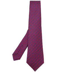 Cravate en soie pourpre foncé Kiton