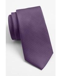 Cravate en soie pourpre