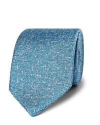 Cravate en soie tressée bleu clair Richard James