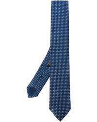 Cravate en soie tressée bleu marine Corneliani