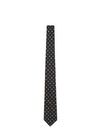 Cravate en soie tressée bleu marine Gucci
