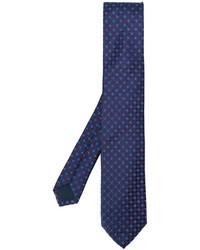 Cravate en soie tressée bleue Corneliani