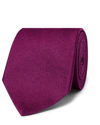 Cravate en soie tressée pourpre foncé Charvet