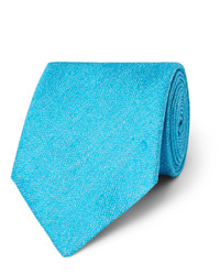 Cravate en soie turquoise Charvet