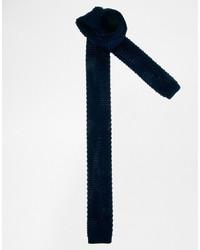Cravate en tricot bleu marine Asos