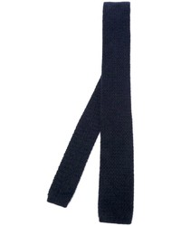 Cravate en tricot bleu marine Eleventy