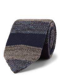 Cravate en tricot bleu marine Missoni