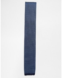 Cravate en tricot bleu marine Ted Baker