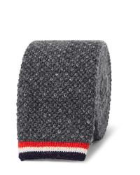 Cravate en tricot bleu marine Thom Browne