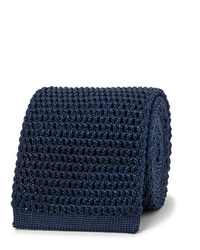 Cravate en tricot bleu marine Tom Ford