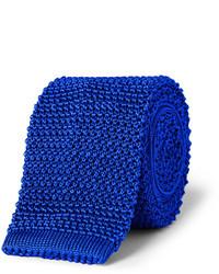 Cravate en tricot bleue Richard James