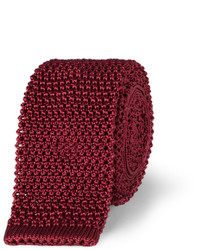 Cravate en tricot bordeaux Charvet
