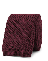 Cravate en tricot bordeaux Hugo Boss