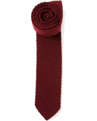 Cravate en tricot bordeaux Z Zegna