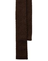 Cravate en tricot brun foncé