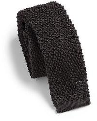 Cravate en tricot gris foncé
