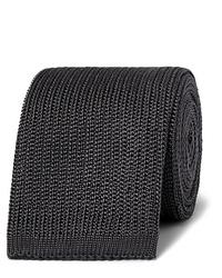Cravate en tricot gris foncé Boglioli