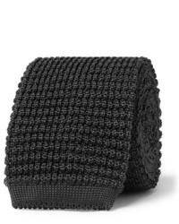 Cravate en tricot gris foncé Canali