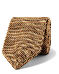 Cravate en tricot marron clair Caruso