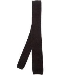 Cravate en tricot marron foncé Eleventy