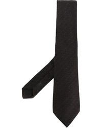Cravate en tricot marron foncé Kiton