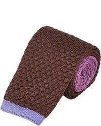 Cravate en tricot marron